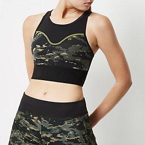 Brassière de sport RI Active camouflage noire