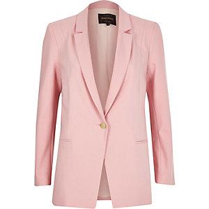 Pink fitted blazer