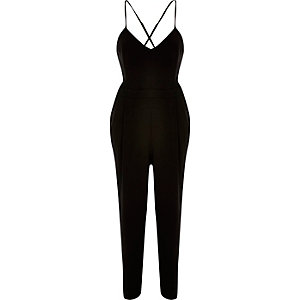 Black cami jumpsuit