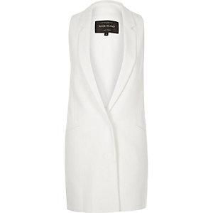 White side tab sleeveless jacket