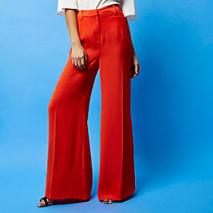 RI Studio red palazzo trousers