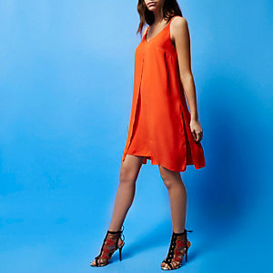 RI Studio red midi slip dress