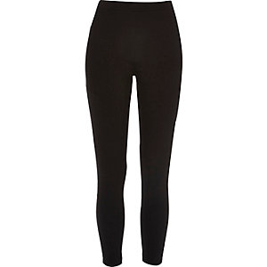 Black sporty trim leggings