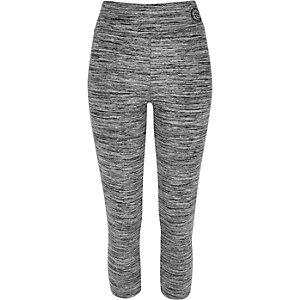 Grey marl capri leggings