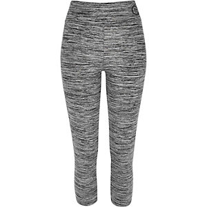 Legging capri gris chiné