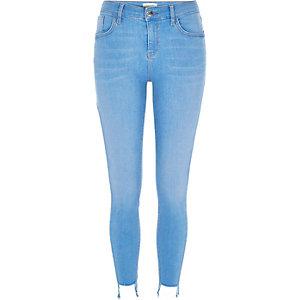 Bright blue wash Amelie super skinny jeans