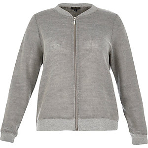 RI Plus silver bomber jacket