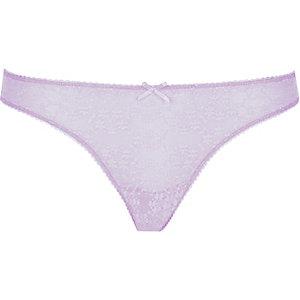 Light purple floral lace thong