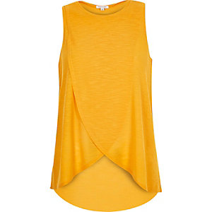 Orange wrap front top