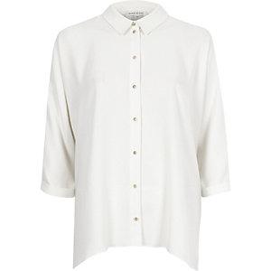 White hanky hem shirt
