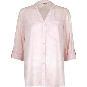 Light pink relaxed fit shirt