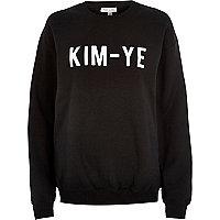 Black Kim-Ye print sweatshirt