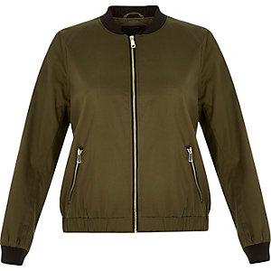 RI Plus khaki bomber jacket