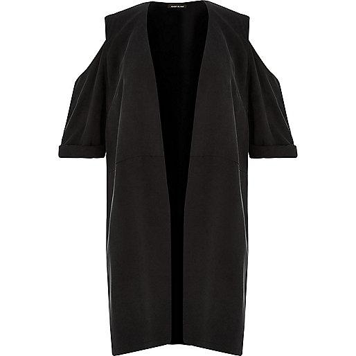 Kimono RI Plus noir avec épaules dénudées