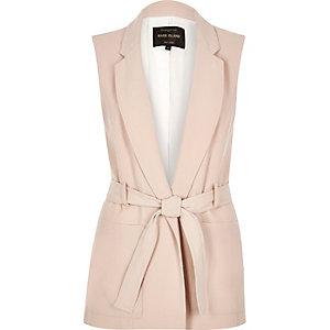 Light pink sleeveless jacket