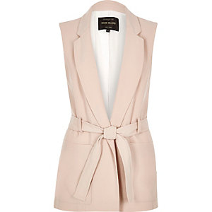 Light pink sleeveless jacket