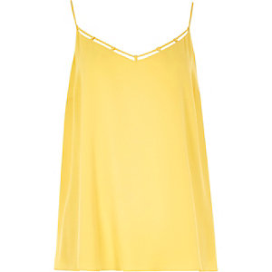 RI Plus yellow strappy cami