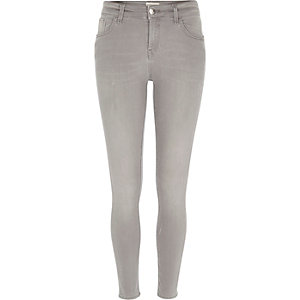 Grey Amelie super skinny jeans