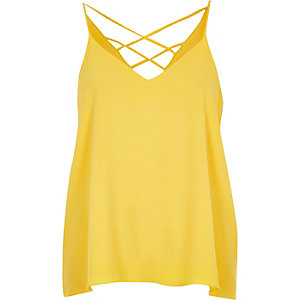 Yellow strappy cami