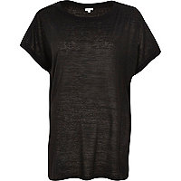 Black square fit t-shirt