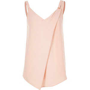 Light pink ring detail cami