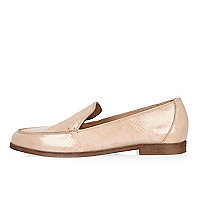 Light pink patent leather loafers