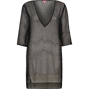 Black mesh tunic
