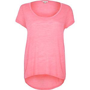 Pink scoop neck t-shirt