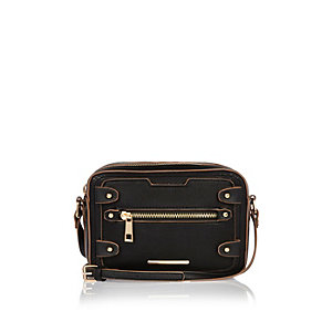 Black cross body satchel