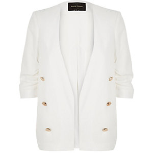 White split back blazer