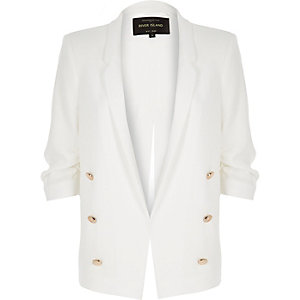 White split back blazer