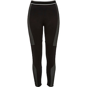 Black panelled leggings