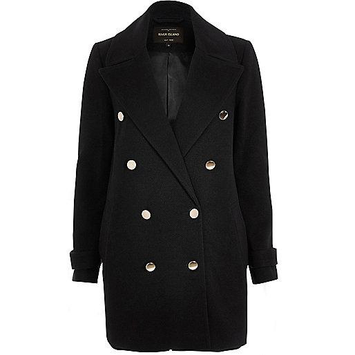 Dark navy military pea coat
