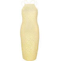 Yellow lace cami dress
