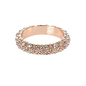 Rose gold gem encrusted ring