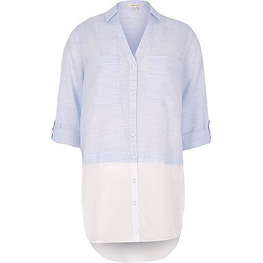 Chemise blanche à superposition