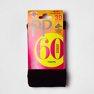 Pretty Polly black 60 denier tights pack