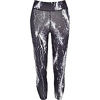 Purple marble print leggings