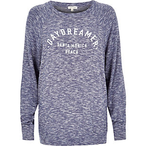 Blue marl sweatshirt