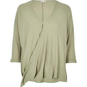 Light green wrap blouse