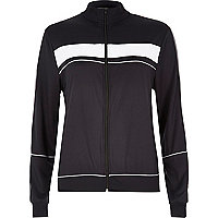 Black zip through sports jacket