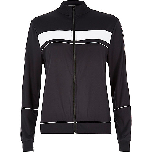 Black zip through sports jacket