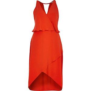 Orange layered dress