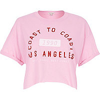 Pink Los Angeles crop top