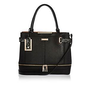 Black large tote bag