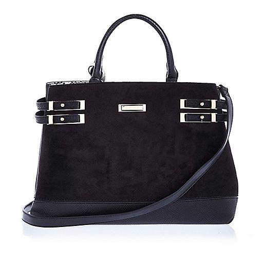 Black strappy tote bag