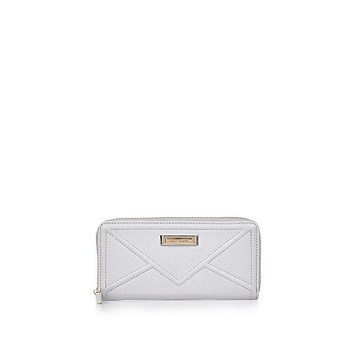 Grey cord purse