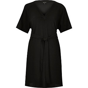Black tied swing dress