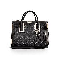 Schwarze Handtasche aus Kord
