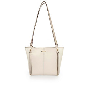 Cream shoulder handbag